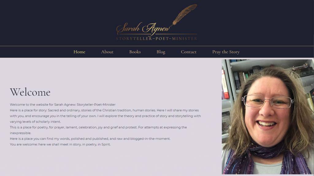 Sarah Agnew's website home page